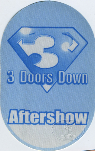 3 DOORS DOWN 2000 TOUR BACKSTAGE PASS ASO