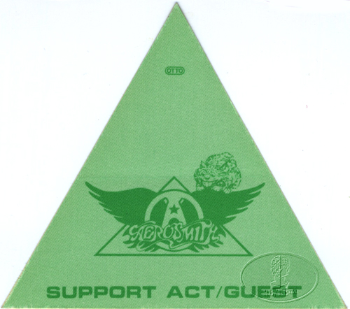 AEROSMITH 1983 BACKSTAGE PASS Support Guest green