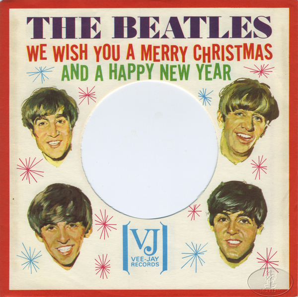 BEATLES CHRISTMAS 45 RPM RECORD SLEEVE 1964