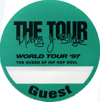 MARY J. BLIGE 1997 Backstage Pass Guest, green