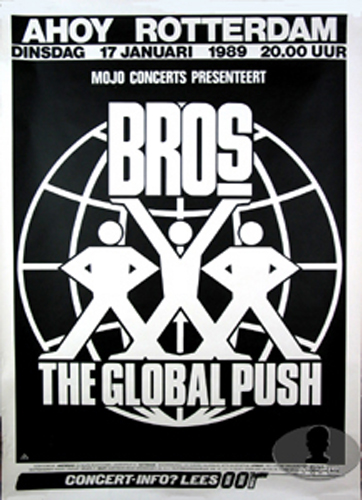 BROS 1989 EUROPE TOUR CONCERT POSTER LUKE MATT GOSS