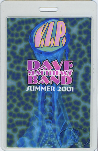 DAVE MATTHEWS 2001 SUMMER LAMINATED BACKSTAGE PASS VIP