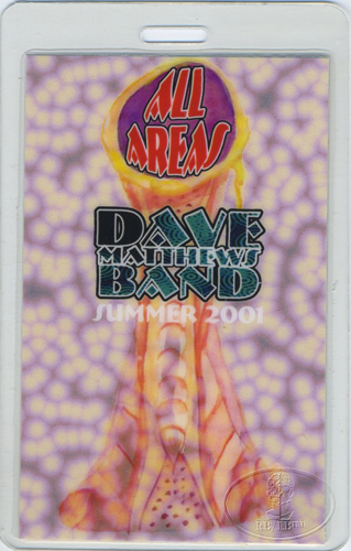 DAVE MATTHEWS 2001 SUMMER LAMINATED BACKSTAGE PASS AA