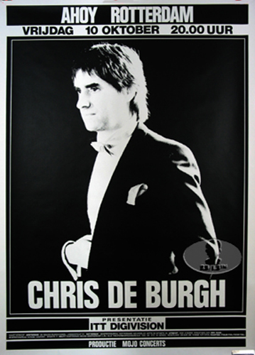 CHRIS DE BURGH 1986 EUROPE TOUR CONCERT POSTER