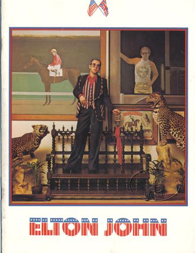 ELTON JOHN 1974 CARIBOU Tour Concert Program Programme Book
