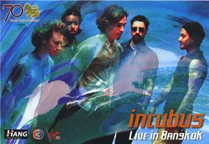 INCUBUS 2004 BANGKOK TOUR PROMOTIONAL POSTCARD