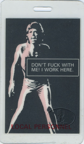 MICK JAGGER 1993 LAMINATED BACKSTAGE PASS ROLLING STONES