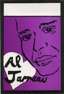 AL JARREAU 1988 BACKSTAGE PASS All Access purple