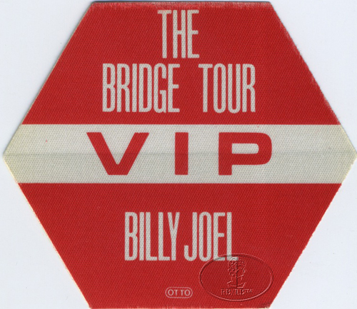 BILLY JOEL 1986 BRIDGE TOUR Backstage Pass VIP red