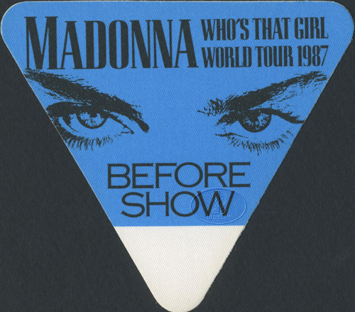 MADONNA 1987 WHO'S THAT GIRL BACKSTAGE PASS BSO blue