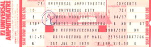 CHUCK MANGIONE 1979 UNUSED CONCERT TICKET