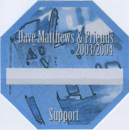 DAVE MATTHEWS & FRIENDS 2003-04 BACKSTAGE PASS Support