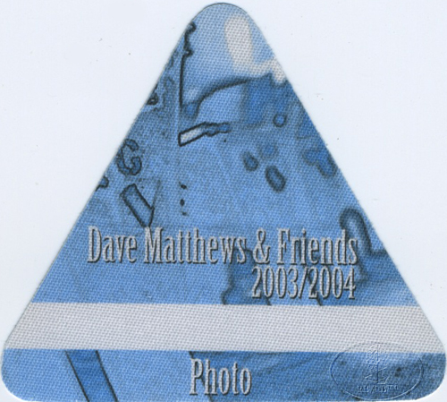 DAVE MATTHEWS & FRIENDS 2003-04 BACKSTAGE PASS Photo blue