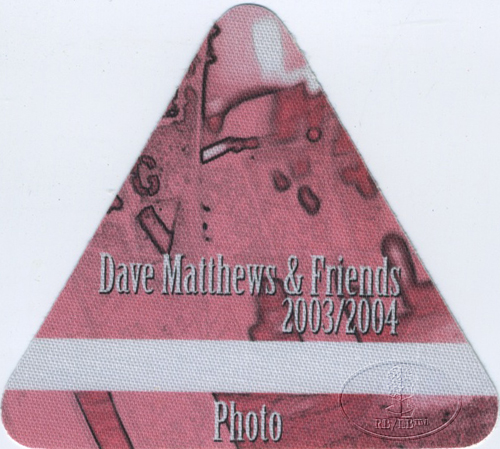 DAVE MATTHEWS & FRIENDS 2003-04 BACKSTAGE PASS Photo pink