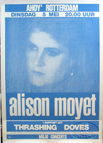 ALISON MOYET 1987 EUROPE TOUR CONCERT POSTER