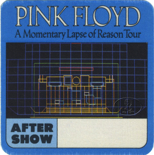 PINK FLOYD 1987 LAPSE OF REASON BACKSTAGE PASS ASO blue