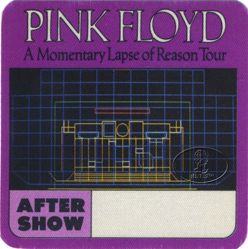 PINK FLOYD 1987 LAPSE OF REASON BACKSTAGE PASS ASO purp