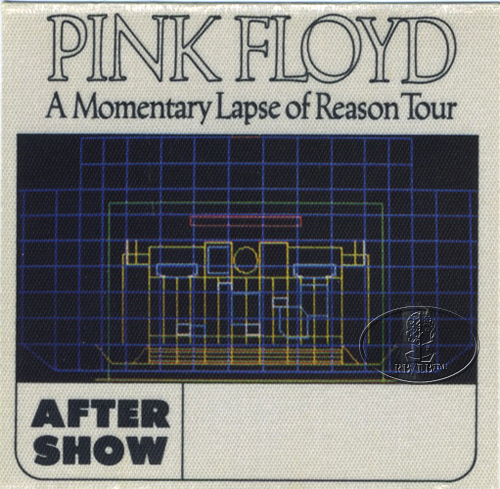 PINK FLOYD 1987 LAPSE OF REASON BACKSTAGE PASS ASO wht