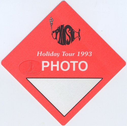 PHISH 1993 HOLIDAY TOUR BACKSTAGE PASS Photo orange
