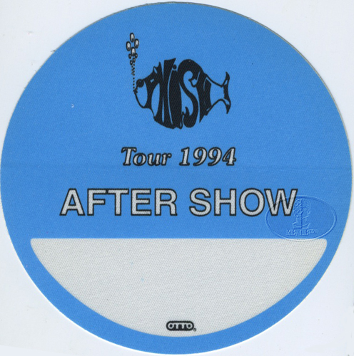 PHISH 1994 TOUR BACKSTAGE PASS ASO blue