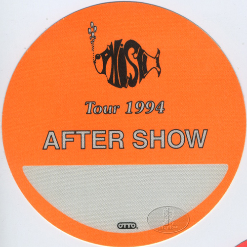 PHISH 1994 TOUR BACKSTAGE PASS ASO orange