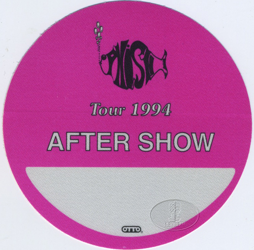 PHISH 1994 TOUR BACKSTAGE PASS ASO pink