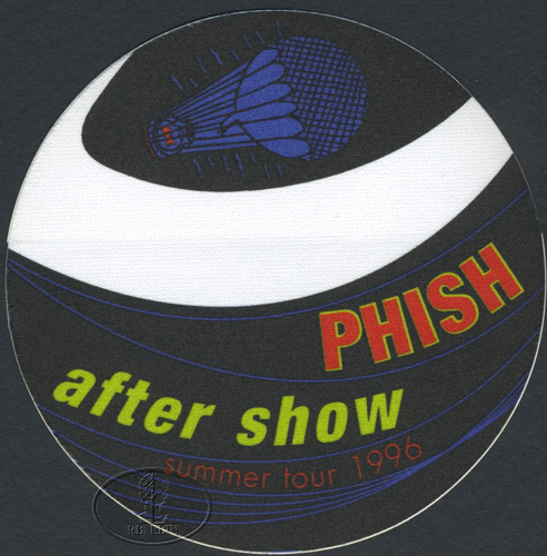PHISH SUMMER 1996 BACKSTAGE PASS ASO black