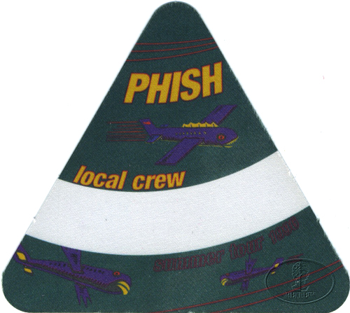 PHISH SUMMER 1996 CREW BACKSTAGE PASS green