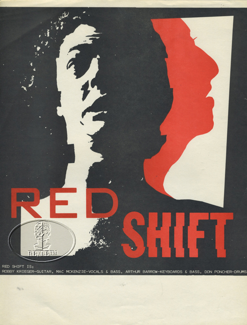 ROBBIE KRIEGER RED SHIFT 1980s HANDBILL THE DOORS