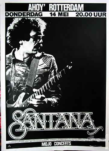 CARLOS SANTANA 1987 FREEDOM TOUR CONCERT POSTER