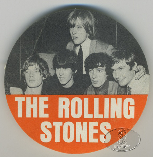 ROLLING STONES 1964 FAN CLUB SOUVENIR DECAL
