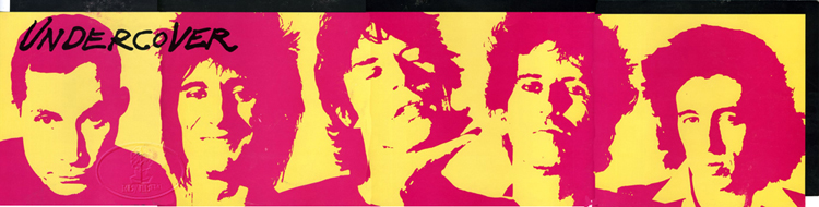 Details about ROLLING STONES 1983 UNDERCOVER PROMO POSTER BANNER