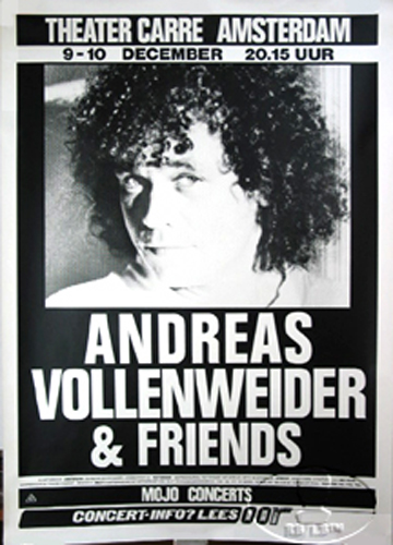 ANDREAS VOLLENWEIDER 1987 EUROPE TOUR CONCERT POSTER