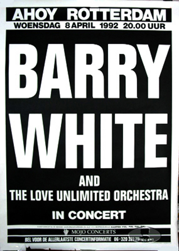 BARRY WHITE 1992 TOUR CONCERT POSTER