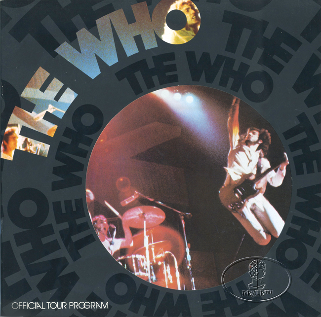 THE WHO 1975 U.S. Tour Concert Program Programme Tourbook  Keith Moon Pete Townshend
